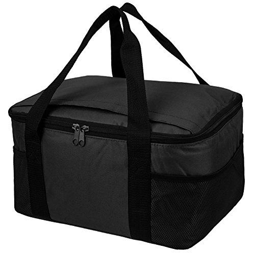 Borsa termica Picnic raffreddamento isolato Lunch Box/scatola, disponibile in diversi colori, White, 37 x 20 x 27 cm Black