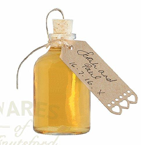 24 botellas de cristal con corchos para hacer, perfecto para bodas para regalos