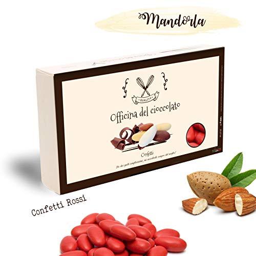 Confetti classici alla mandorla -scelta tra tanti colori- confezioni da 1 kg (rossi)