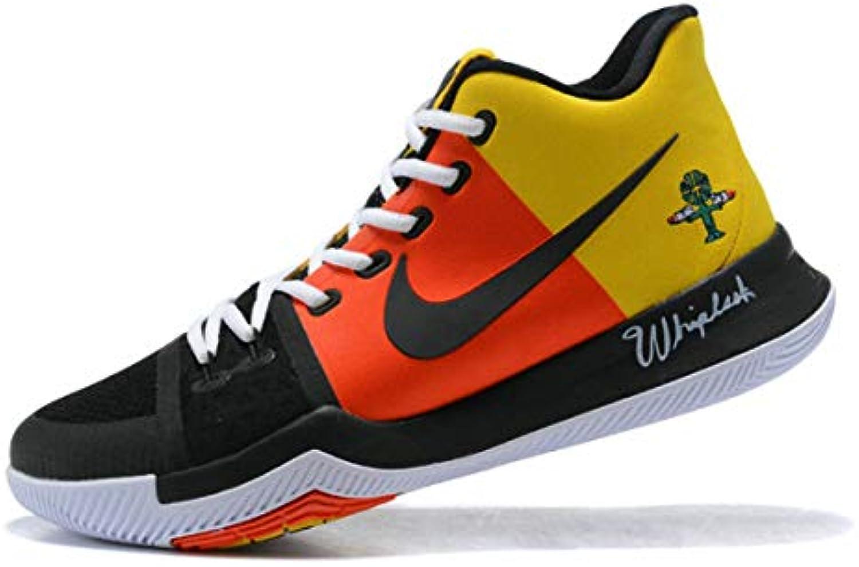 Kyrie 3 Rayguns Yellow Orange Black Ar4567 900 Zapatos de Baloncesto para Hombre -