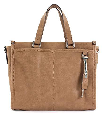 ESPRIT Damen Handtasche Tasche Henkeltasche Kayla City Bag Braun 118EA1O038-230 -