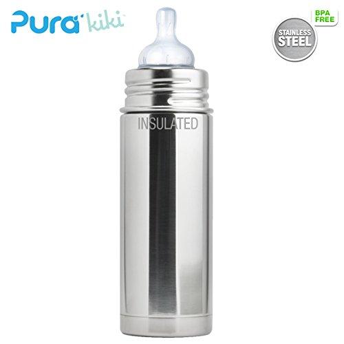 Pura Kiki ISO-Flasche - 250ml - Weithalssauger (inkl. Schutzkappe) Pura ISO 250ml Weithalssauger/Blank