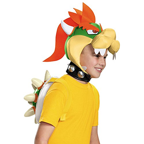 Kostüm Koopa Bowser - Unbekannt Super Mario 13388-Set Verkleidung Bowser Kostüm, gelb, Einheitsgröße