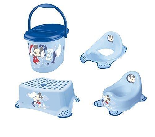 Disney Micky Maus 4er Set Töpfchen + WC Aufsatz + Hocker + Windeleimer Neu