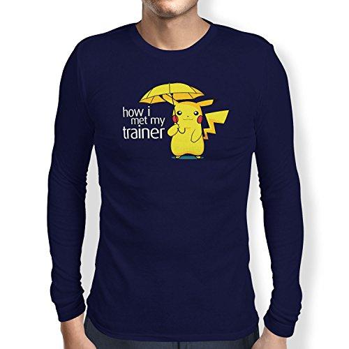 TEXLAB - Pika Trainer - Herren Langarm T-Shirt Navy