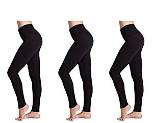 Damen Leggings (3 Pack) FM® Damen Sport oder Casual, Thermische schwarze Legging from FM London