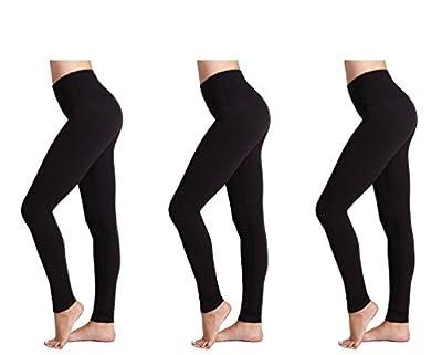 Damen Leggings (3 Pack) FM® Damen Sport oder Casual, Thermische schwarze Legging from FM London