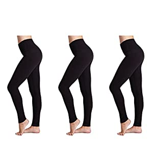 Leggings da Donna (Pacco da 3) FM® Leggings Neri Termici da Donna, Sportivi o Casual 2 spesavip