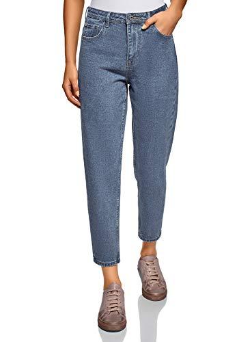 oodji Ultra Donna Jeans Mom Fit Vita Alta
