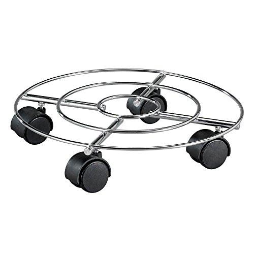 "WAGNER Pflanzenroller ""DRAHT"" - Stahl, verchromt, Durchmesser 35 x 6,3 cm, Tragkraft 60 kg - 20093201"
