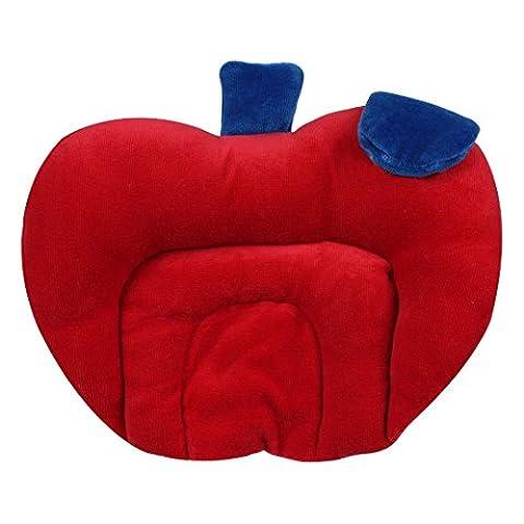 Kuber Industries Mustard Seeds (Rai) Pillow - Apple Shape (Cotton),Sky Blue - KI3335
