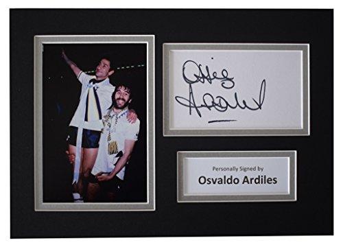 Sportagraphs-Ossie-Ardiles-Signed-Autograph-A4-photo-display-Tottenham-Hotspur-Football-COA-PERFECT-GIFT
