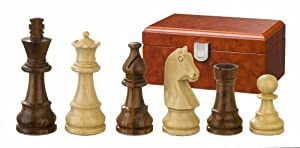 Philos 2051 Titus - Piezas de ajedrez (altura del rey 76 mm, en caja), color marrón
