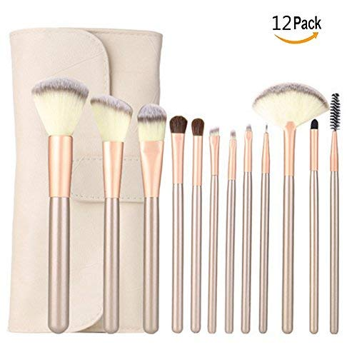 OFKPO Pinceles de Maquillaje Set Professional Make Up Kit - Mango de Madera, Make Up Brush Pincel Cosmética