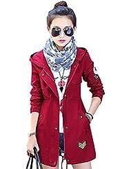 YOUJIA Mujeres Abrigo con capucha de manga larga Chaqueta rompevientos Parka Outwear Hoodie