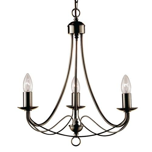 Searchlight Maypole 6343-3AB Antik Messing Classic Deckenleuchte mit 3 Lampen - Messing Classic 3