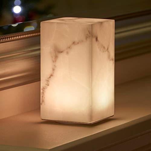 Auraglow Lámpara de Mesa Con Cable Inalámbrico con Luz LED Recargable Cambiante de Colores y Blanca (MARBLE)