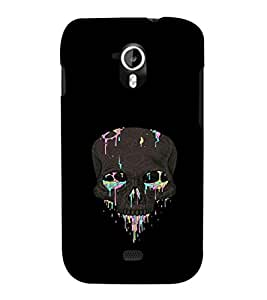 printtech Skull Abstract Back Case Cover for Micromax Canvas HD A116::Micromax Canvas HD Plus A116Q
