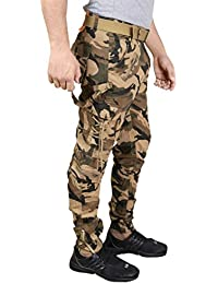 KrystleMen's Stylish Cotton Relaxed Fit Zipper DORI Cargo Jogger Pants