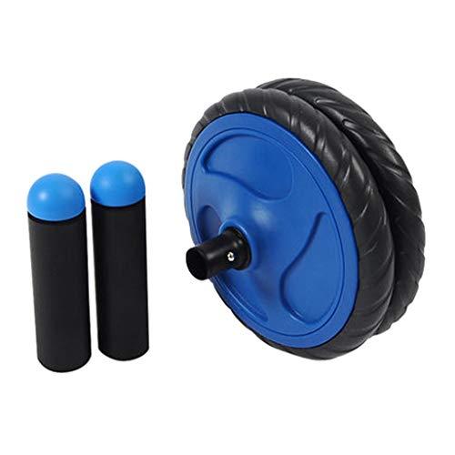Beintrainer Bauchrad Design Mit Zwei Rädern Sportausrüstung Automatischer Rebound Für Männer Und Frauen Bauchmuskelrad Training Blau Geschenk (Color : Blue, Size : 35 * 17cm)