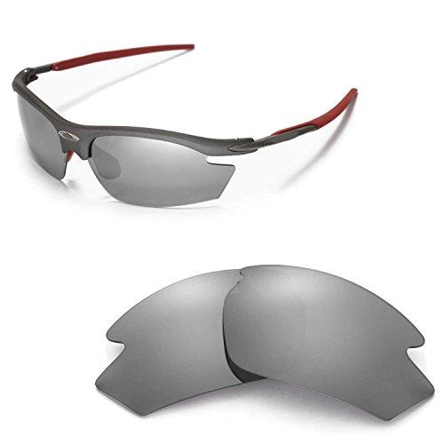 Walleva Ersatzgläser für Rudy Project Rydon Sonnenbrille - Mehrfache Optionen (Titanium Mirror Coated - Polarisiert)