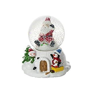Mousehouse Gifts Globo de Nieve navideña con música Decorada con Figuras de Papá Noel muñeco de Nieve y pingüino