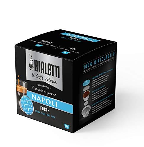 Bialetti Kapseln Napoli - Set 8 Packungen von 16 Kapseln