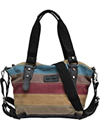 051b0c987fb AmbraModa Sac à main des femmes multicolore sac à bandoulière en toile sac  Shopper Hobo