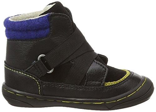 Kickers Zedinon Wpf, Chaussures Bébé marche mixte bébé Noir (Noir/Jaune Foncé/Bleu)