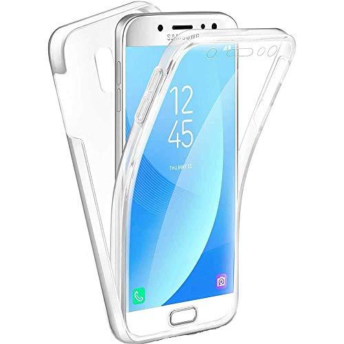 Miagon Coque pour Galaxy J5 2017,360 Degres Transparent Silicone Avant et Dur Arrière en Rigide Tout Le Corps Ultra Mince Souple Antichoc Housse Etui pour Samsung Galaxy J5 2017