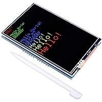kuman Pantalla LCD Táctil Tft de 3,5 Inch con Enchufe de Tarjeta SD para Arduino R3 MEGA 2560, Todos los Datos Técnicos en CD SC3A-1