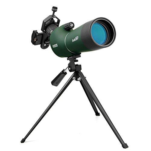 Svbony SV28 Telescopio Terrestre 20-60x60mm Impermeable de Zoom Catalejo con Trípode y Adaptador Universal para Smartphone Ideal para Observación