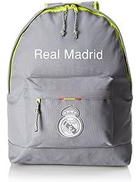 076495 Real Madrid Mochila Tipo Casual, 20 litros, Color Gris