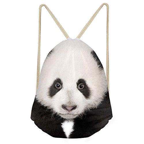 CHAQLIN von Jungen, Mädchen Rucksack Schulranzen Schulter Rucksack Umhängetasche mit Alarm, damen, S-3186Z3, panda, S - Passport Panda Cover