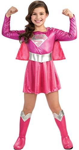 Rosa Kind Kostüm Supergirl - Rubie's Official Supergirl-Größe M, rosa