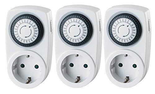 Garza Power - Temporizador analógico Mini, blíster de 3 unidades