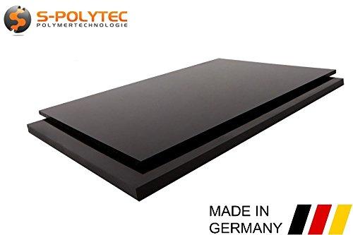 PE-HD Platte Zuschnitte | SCHWARZ | 2-15mm | VERSCHIEDENE FORMATE | Top Qualität (5mm, 100 x 49cm)