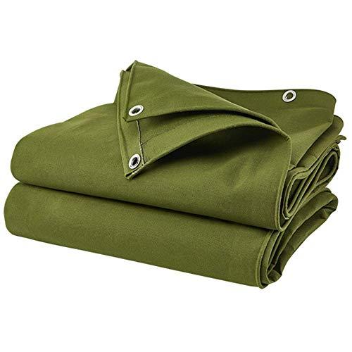 SCJS Planengrün, mehrschichtig, reversibles Segeltuch in verschiedenen Größen und Stärken, 0,9 mm dick, 600 g/m² (Größe: 1,5 * 2 m) -