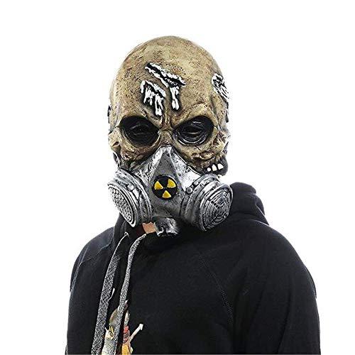 QWhing Festival-Maske Halloween Resident Evil Die Bösen Toten Cosplay Requisiten Scary Skeleton Gasmaske Kostüm ()