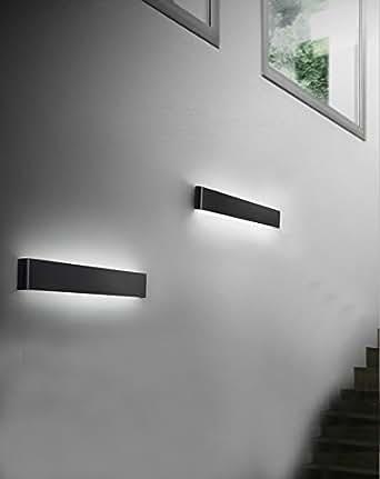 Lampada a specchio 6 w 660 lm 245 mm moderno nero - Amazon illuminazione bagno ...