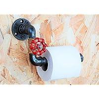 Dérouleur papier-toilette vanne style industriel en tuyaux de plomberie