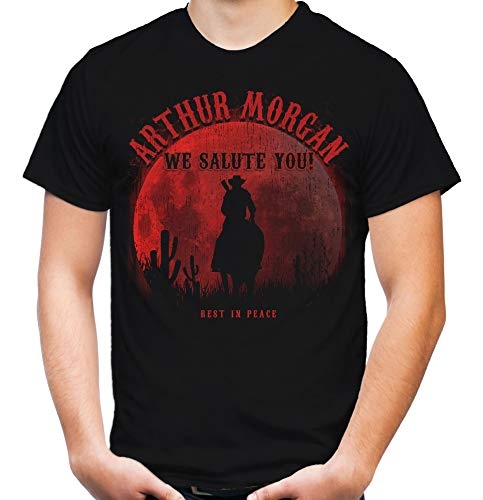 Arthur - We Salute You Männer und Herren T-Shirt | Dead Cowboy Red Outlaw Morgan