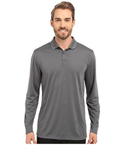 Nike Herren Victory Langarm Poloshirt, Dark Grey/White, S -