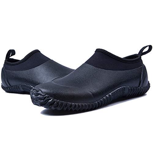 Gracosy Chaussures de Jardinage pour Hommes Femmes -  Noir - Taille 44