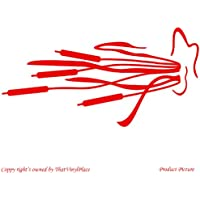 Reed, Bandiera dolce, Piante acquatiche (53cm x 27cm) colore: rosso,