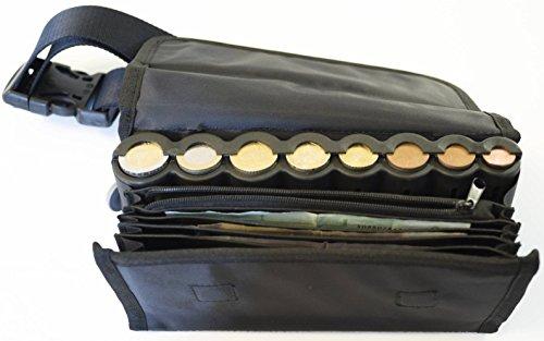 Sacoche banane noir avec monnayeur euro 8 pièces intégré
