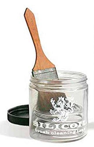 Silicoil - Pinselreinigungsbehaelter aus Glas