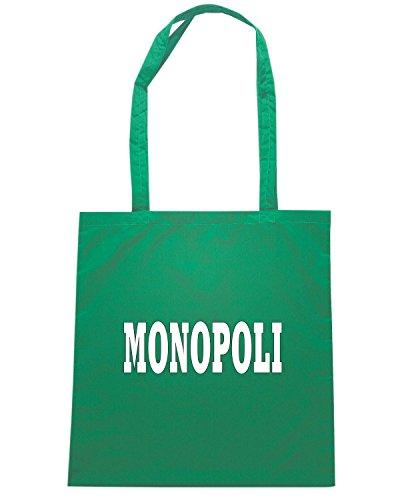 T-Shirtshock - Borsa Shopping WC0974 MONOPOLI ITALIA CITTA STEMMA LOGO Verde