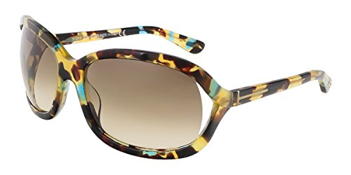 Tom ford occhiali da sole da donna 0278 vivienne - 55w: tartaruga colorata