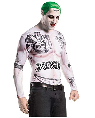 Horror-Shop Suicide Squad Joker Kostüm Set für Fasching & Halloween Standard (Joker Kostüme Make Up)